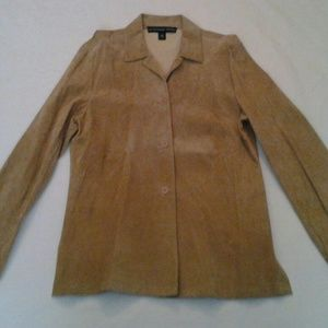 Suede Jacket Beige size M by Josephine Chaus